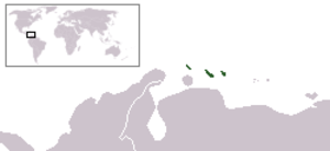 ABC islands (Lesser Antilles) - Image: ABC Eilanden Locatie