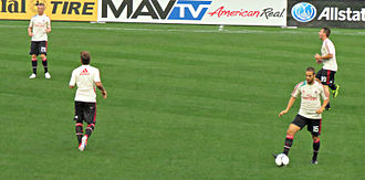 Ignazio Abate - Abate warming up with A.C. Milan.