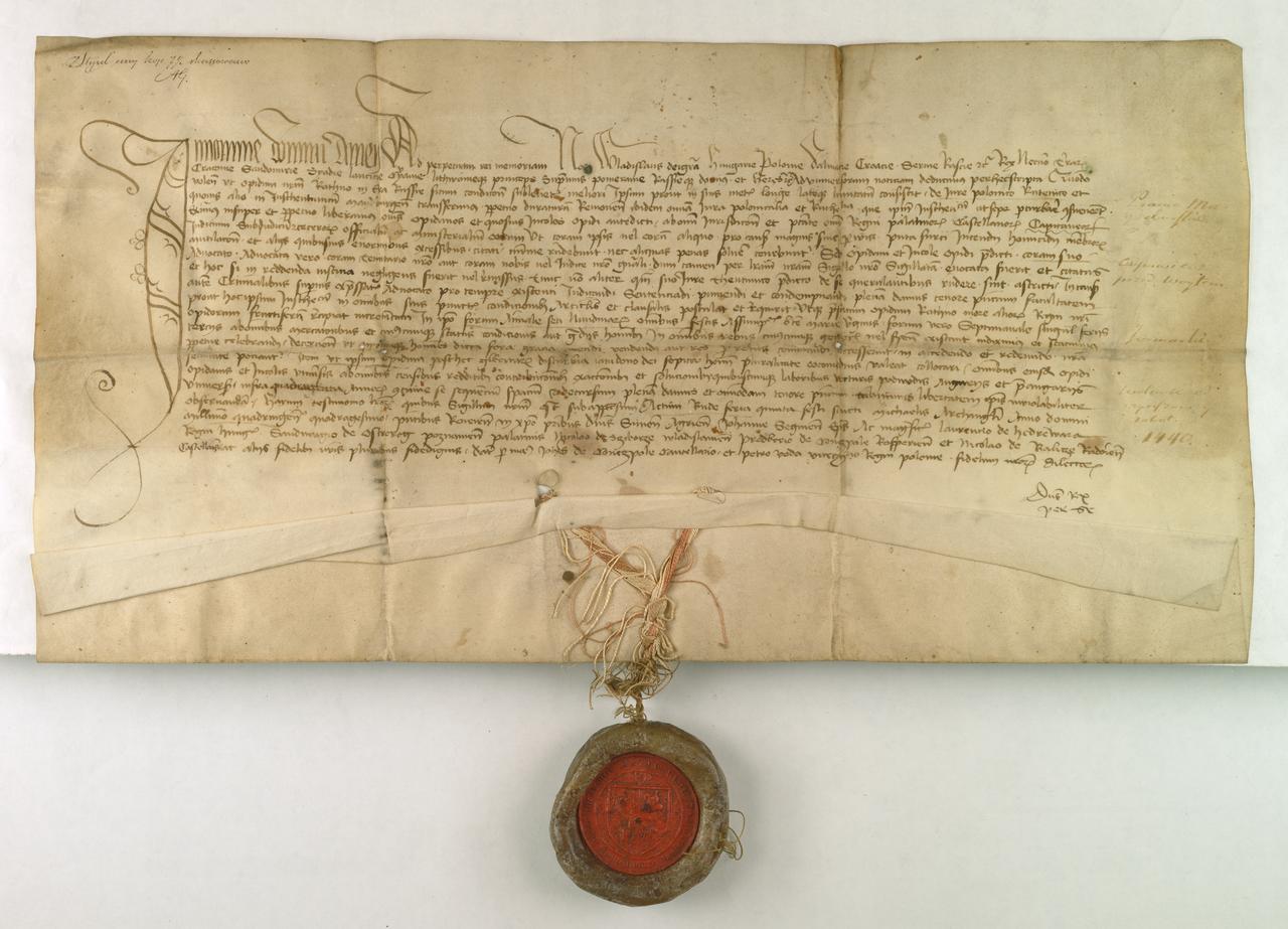 АГАД Владислав III, король Венгрии и Польши, передает Ратно на русинской земле под Магдебургское право