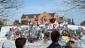Northern Illinois University shooting - Memorial for victims of the shooting