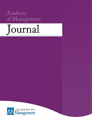 Academy of Management Journal - Image: AMJ cover 2012