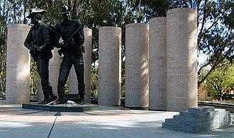 Australian Army Memorial, Canberra - The pillars of the memorial