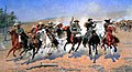 A Dash for Timber by Frederic Remington. 1889. (Oil Painting).jpg