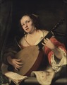 A Lady Playing the Lute (Ferdinand Bol) - Nationalmuseum - 18433.tif