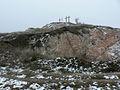 A Szél-hegyi nagy kőbánya nyugat felől, hóban.JPG
