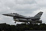A U.S. Air Force F-16 Fighting Falcon aircraft with the 169th Fighter Wing, South Carolina Air National Guard arrives at McEntire Joint National Guard Base, S.C., Aug. 22, 2012, after a four-month deployment to 120822-F-WT236-084.jpg