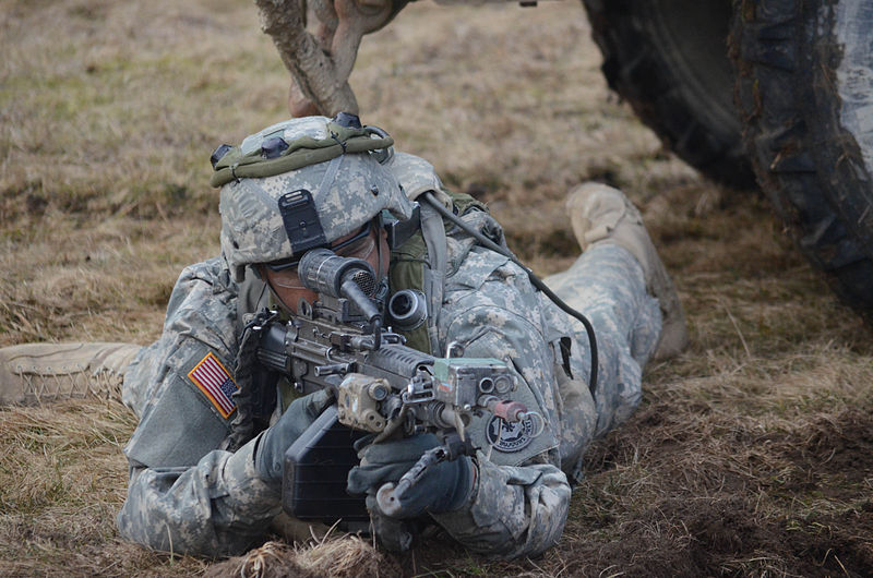 The 2nd cavalry regiment provides security during a mission rehearsal