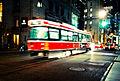 A UTDC streetcar, at night.jpg