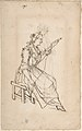 A Woman Spinning (recto); A Woman Holding a Bundle (verso) MET DP809073.jpg