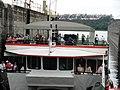 A eclusa de Barra Bonita tem 147 metros de comprimento por 12 de largura e comporta 3 barcos de turismo simultaneamente na descida dos 26 metros - panoramio.jpg