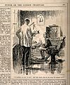 A man deciding that the dentist's fee for pulling a tooth is Wellcome V0011527.jpg