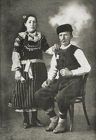 """Shopi - """"Self-conscious, but happy. A newly engaged couple, Bulgaria"""", National Geographic, 1915"""