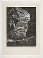 A peasant traversing a dark and rocky gorge in the moonlight, From Titres de Romance MET DP814146.jpg