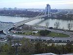 A pozsonyi Új-híd látképe a vártól.JPG