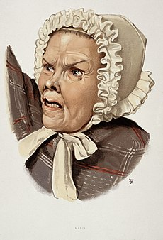 A woman diagnosed as suffering from mania. Colour lithograph Wellcome L0026690.jpg