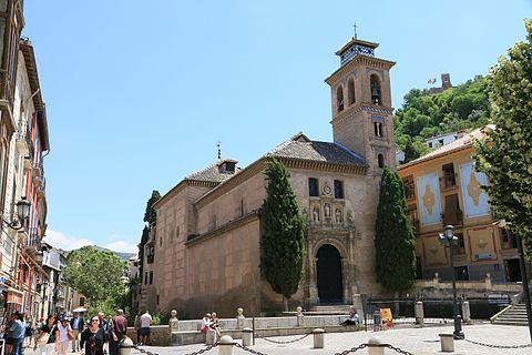 Aa church of santa ana in granada