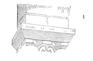 Abacus (architecture) - Image: Abaque.romane.primit ive