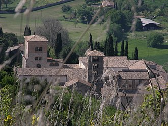 Farfa Abbey - View of the abbey from Monte Acuziano