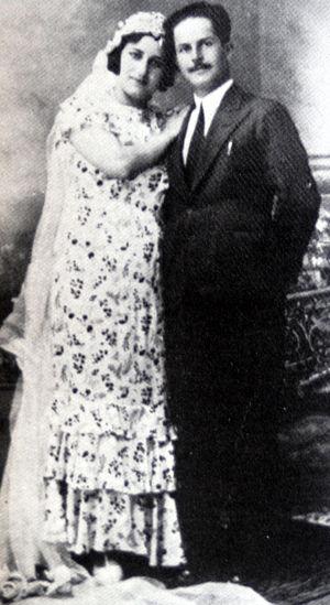 Abd al-Qadir al-Husayni - Abd al-Qadir's wedding photograph, 1934