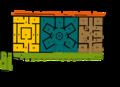 Abicada römische Villa Gebäudeplan.png