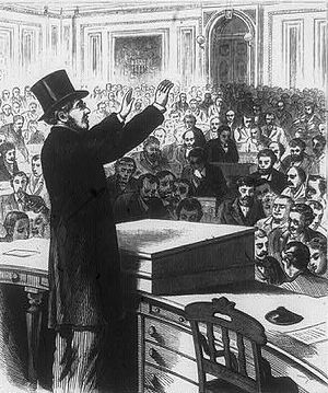 Abraham de Sola - Abraham de Sola delivering opening prayer at the House of Representatives on January 9, 1873