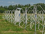 Active dipoles of low-frequency Giant Ukrainian Radio Telescope (GURT) phased array. Kharkiv oblast, Ukraine.jpg