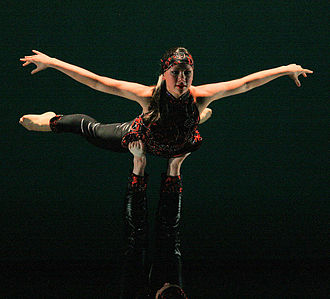 Adagio (acrobatics) - Adagio swan, performed by an acro dance duo
