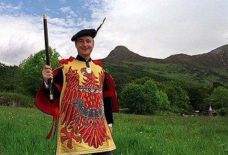 Pursuivant - The Honourable Adam Bruce, former Finlaggan Pursuivant of Arms