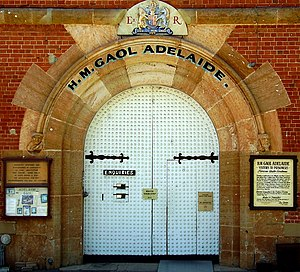 Adelaide Gaol - Image: Adelaide Gaol main door