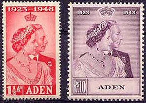 Aden Scott #30 & #31, 1949 Royal Silver Wedding