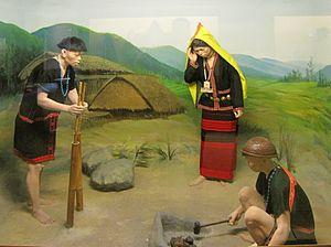 Minyong tribe - Diorama of Adi Minyong people in Jawaharlal Nehru Museum, Itanagar.
