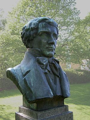 Adolf Fredrik Lindblad - Statue of Adolf Fredrik Lindblad in Skänninge