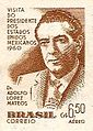 Adolfo López Mateos 1960 Brazil stamp.jpg