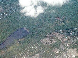 Rahway River - Aerial view of Orange Reservoir