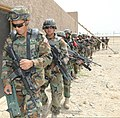 Afghan National Army commandos with the 1st Tolai, 3rd Special Operations Kandak conduct a simulated village patrol during a training exercise in the Dand district, Kandahar province, Afghanistan, May 25, 2013 130525-A-QS703-127.jpg
