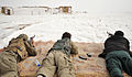 Afghan National Police (ANP) members fire AK-47 rifles from the prone firing position during weapons training in the Nawbahar district, Zabul province, Afghanistan, March 1, 2012 120301-N-UD522-251.jpg