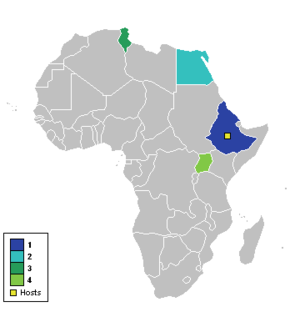 1962 African Cup of Nations - Participating nations