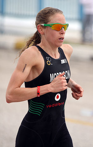 Aileen Morrison - Aileen Morrison at the European Cup triathlon in Antalya, 2011.
