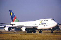 Air Namibia Boeing 747-400 KvW.jpg