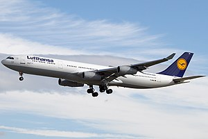 Airbus A340 - An A340-300, the most widespread variant, of Lufthansa, the largest operator