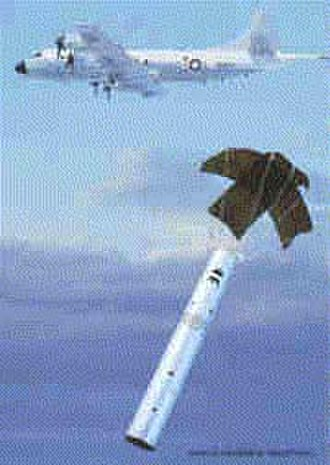 Sonobuoy - P-3 Orion paradropping a sonobuoy.