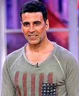 A picture of Akshay Kumar looking towards the camera