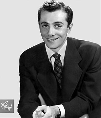 "Al Martino - Martino in 1952 when ""Here in My Heart"" topped the music charts"