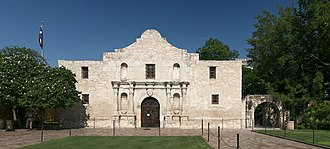 "Alamo Mission in San Antonio - The chapel of the Alamo Mission is known as the ""Shrine of Texas Liberty"""