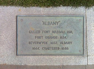 History of Albany, New York (prehistory–1664) - Historical Marker - Broadway at foot of State Street