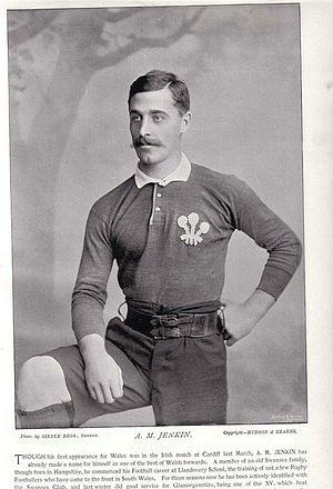 Albert Jenkin - Jenkin in Wales jersey (1895)