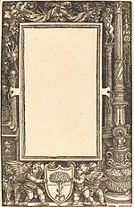 Albrecht Dürer - Title-Border with Putti Holding the Pirckheimer Arms (NGA 1984.20.1).jpg