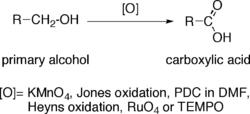 اکسایش الکلهای نوع اول به کربوکسیلیک اسیدها