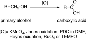 Oxidation of primary alcohols to carboxylic acids