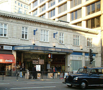 Aldgate tube station - Station entrance